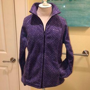 Columbia ladies purple long sleeve full zip fleece